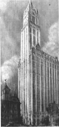 Woolworth Building  by Hugh Ferriss Source WikiCommons