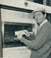 World's 1st ATM