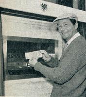 World's 1st ATM