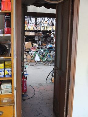 The sanctum sanctorum, where the bikes are built
