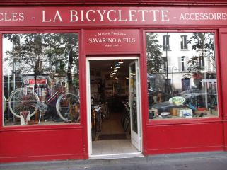 Store front of La Bicyclette