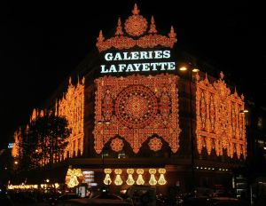 Christmas at Galleries Lafayette by Remi Jouan